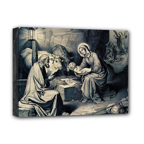 The Birth Of Christ Deluxe Canvas 16  X 12   by Valentinaart