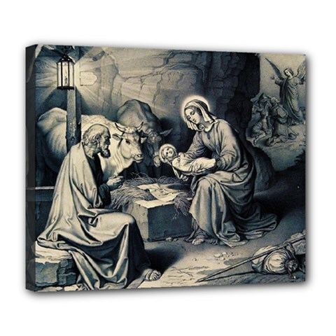 The Birth Of Christ Deluxe Canvas 24  X 20