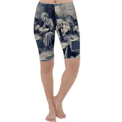 The Birth Of Christ Cropped Leggings