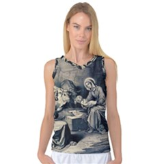 The Birth Of Christ Women s Basketball Tank Top by Valentinaart