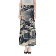 The Birth Of Christ Full Length Maxi Skirt by Valentinaart