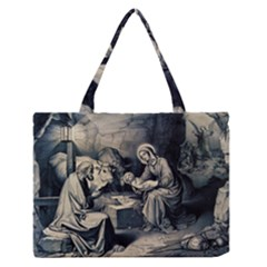 The Birth Of Christ Zipper Medium Tote Bag by Valentinaart