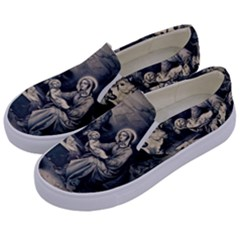 The Birth Of Christ Kids  Canvas Slip Ons by Valentinaart