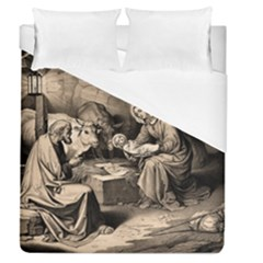 The Birth Of Christ Duvet Cover (queen Size)
