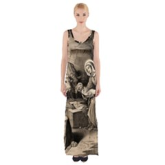 The Birth Of Christ Maxi Thigh Split Dress by Valentinaart