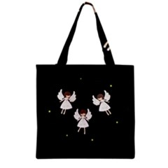 Christmas Angels  Grocery Tote Bag by Valentinaart