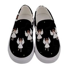 Christmas Angels  Women s Canvas Slip Ons