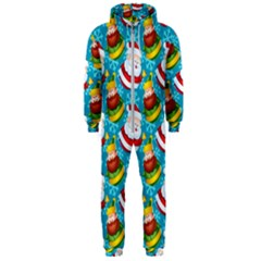Christmas Pattern Hooded Jumpsuit (men)