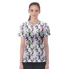 Christmas Pattern Women s Sport Mesh Tee by tarastyle