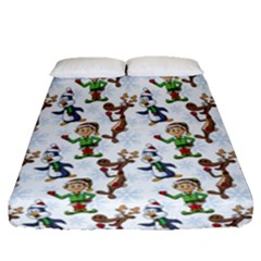 Christmas Pattern Fitted Sheet (queen Size) by tarastyle