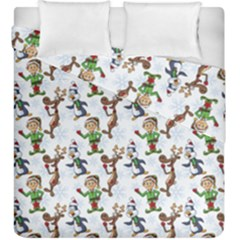 Christmas Pattern Duvet Cover Double Side (king Size) by tarastyle