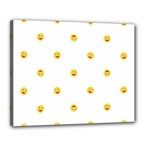 Happy Sun Motif Kids Seamless Pattern Canvas 20  X 16  by dflcprintsclothing
