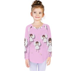 Christmas Angels  Kids  Long Sleeve Tee by Valentinaart