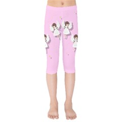 Christmas Angels  Kids  Capri Leggings