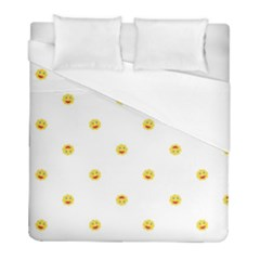 Happy Sun Motif Kids Seamless Pattern Duvet Cover (full/ Double Size) by dflcprintsclothing