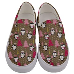 Christmas Pattern Men s Canvas Slip Ons