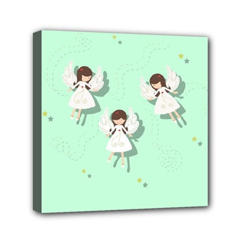 Christmas Angels  Mini Canvas 6  X 6  by Valentinaart
