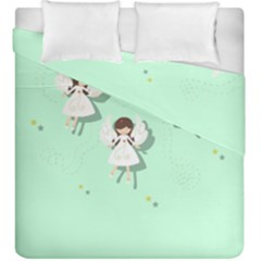 Christmas Angels  Duvet Cover Double Side (king Size)