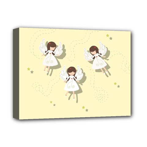 Christmas Angels  Deluxe Canvas 16  X 12   by Valentinaart