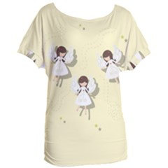 Christmas Angels  Women s Oversized Tee by Valentinaart