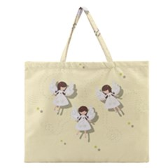 Christmas Angels  Zipper Large Tote Bag by Valentinaart