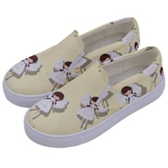 Christmas Angels  Kids  Canvas Slip Ons by Valentinaart