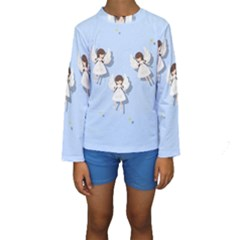 Christmas Angels  Kids  Long Sleeve Swimwear by Valentinaart