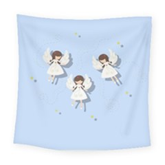 Christmas Angels  Square Tapestry (large) by Valentinaart