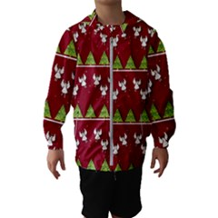 Christmas Angels  Hooded Wind Breaker (kids)