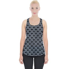Scales2 Black Marble & Silver Paint (r) Piece Up Tank Top by trendistuff