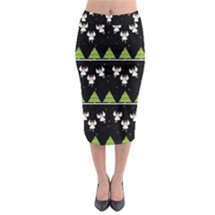 Christmas Angels  Midi Pencil Skirt by Valentinaart