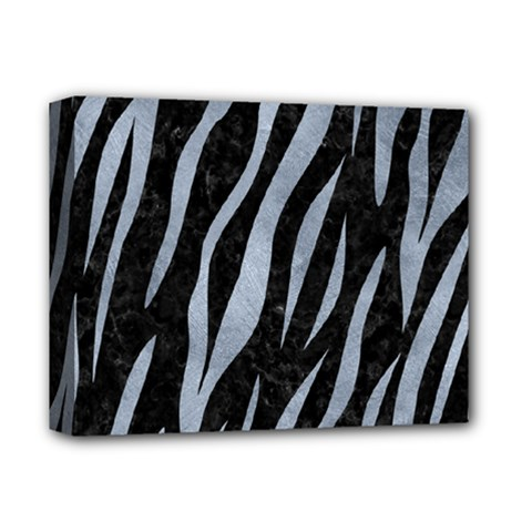 Skin3 Black Marble & Silver Paint (r) Deluxe Canvas 14  X 11  by trendistuff