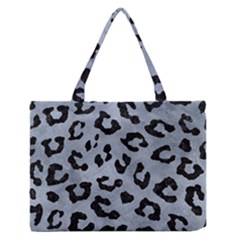 Skin5 Black Marble & Silver Paint (r) Zipper Medium Tote Bag by trendistuff