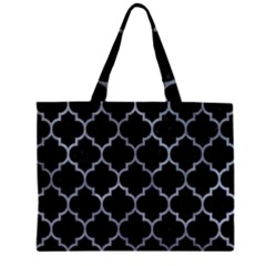 Tile1 Black Marble & Silver Paint (r) Zipper Mini Tote Bag by trendistuff