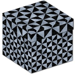 Triangle1 Black Marble & Silver Paint Storage Stool 12   by trendistuff