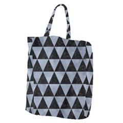 Triangle3 Black Marble & Silver Paint Giant Grocery Zipper Tote by trendistuff