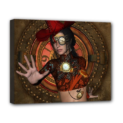 Steampunk, Wonderful Steampunk Lady Deluxe Canvas 20  X 16   by FantasyWorld7