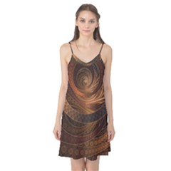 Brown, Bronze, Wicker, And Rattan Fractal Circles Camis Nightgown by jayaprime