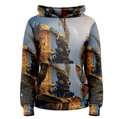 Wonderful Seascape With Mushroom House Women s Pullover Hoodie