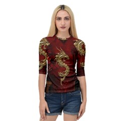 Wonderful Mystical Dragon, Vintage Quarter Sleeve Raglan Tee by FantasyWorld7