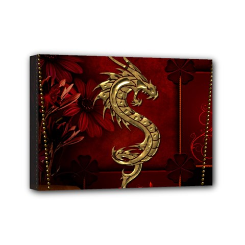 Wonderful Mystical Dragon, Vintage Mini Canvas 7  X 5  by FantasyWorld7