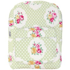 Green Shabby Chic Full Print Backpack by 8fugoso