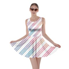 Colored Candy Striped Skater Dress by Colorfulart23