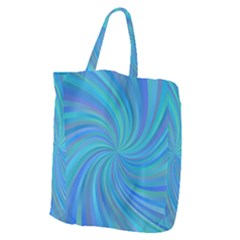 Blue Background Spiral Swirl Giant Grocery Zipper Tote by Celenk