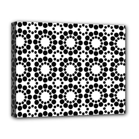 Black White Pattern Seamless Monochrome Deluxe Canvas 20  X 16   by Celenk