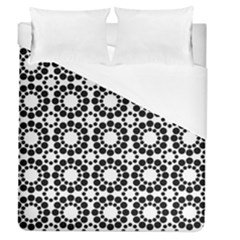 Black White Pattern Seamless Monochrome Duvet Cover (queen Size)