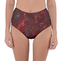 Abstract Fantasy Color Colorful Reversible High Waist Bikini Bottoms
