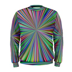 Burst Colors Ray Speed Vortex Men s Sweatshirt
