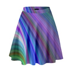 Background Abstract Curves High Waist Skirt by Celenk