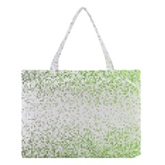 Green Square Background Color Mosaic Medium Tote Bag by Celenk